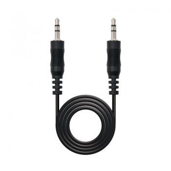 Cable Estéreo Nanocable 10.24.0105/ Jack 3.5 Macho - Jack 3.5 Macho/ 5m/ Negro - Imagen 1