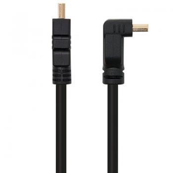 Cable HDMI Nanocable 10.15.3002/ HDMI Macho - HDMI Macho/ 1.8m/ Negro - Imagen 1
