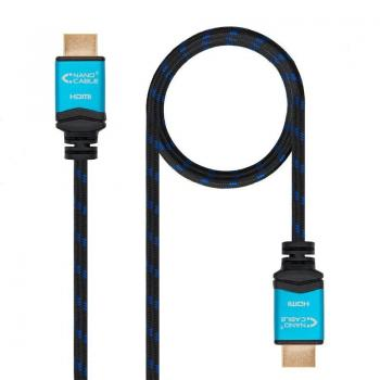 Cable HDMI Nanocable 10.15.3710/ HDMI Macho - HDMI Macho/ 10m/ Negro/ Azul - Imagen 1