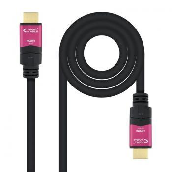 Cable HDMI Nanocable 10.15.3715/ HDMI Macho - HDMI Macho/ 15m/ Negro - Imagen 1