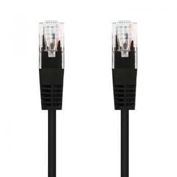 Cable de Red RJ45 UTP Nanocable 10.20.0110-BK Cat.5e/ 10m/ Negro - Imagen 1