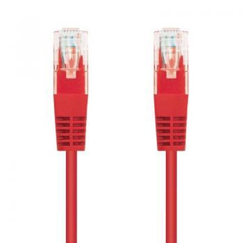 Cable de Red RJ45 UTP Nanocable 10.20.0401-R Cat.6/ 1m/ Rojo - Imagen 1