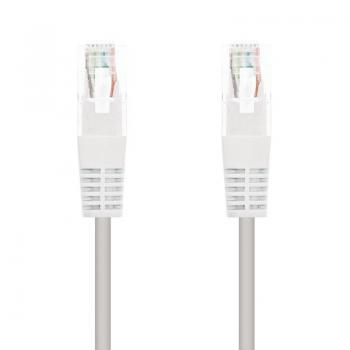 Cable de Red RJ45 UTP Nanocable 10.20.0401-W/ Cat.6/ 1m/ Blanco - Imagen 1