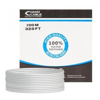 Bobina de Cable RJ45 FTP Nanocable 10.20.0902 Cat.6/ 100m/ Gris - Imagen 1