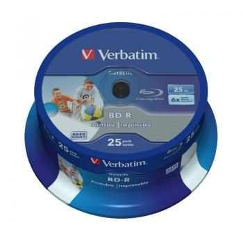 BLU-RAY BD-R Verbatim 43811 Imprimible 6X/ Tarrina-25uds - Imagen 1