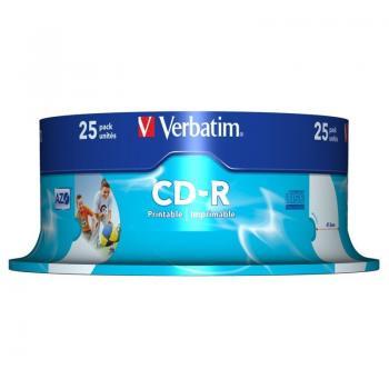 CD-R Verbatim AZO Imprimible 52X/ Tarrina-25uds - Imagen 1