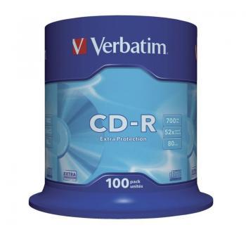 CD-R Verbatim Datalife 52X/ Tarrina-100uds - Imagen 1