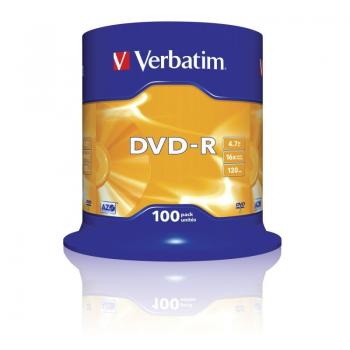 DVD-R Verbatim Advanced AZO 16X/ Tarrina-100uds - Imagen 1