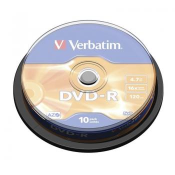 DVD-R Verbatim Advanced AZO 16X/ Tarrina-10uds - Imagen 1