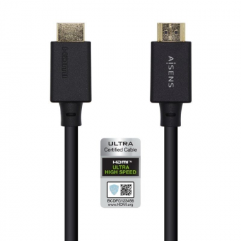 Cable HDMI Aisens A150-0423/ HDMI Macho - HDMI Macho/ 2m/ Negro - Imagen 1