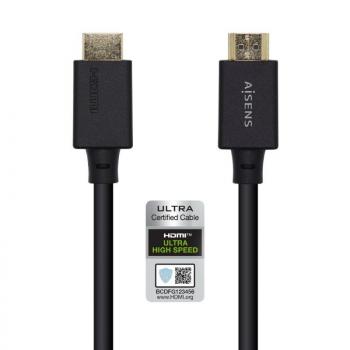 Cable HDMI Aisens A150-0424/ HDMI Macho - HDMI Macho/ 3m/ Negro - Imagen 1