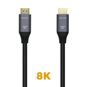 Cable HDMI Aisens A150-0425/ HDMI Macho - HDMI Macho/ 0.5m/ Gris Negro - Imagen 1
