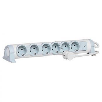 Regleta con Interruptor Legrand 694637/ 6 Tomas de corriente/ Blanca - Imagen 1