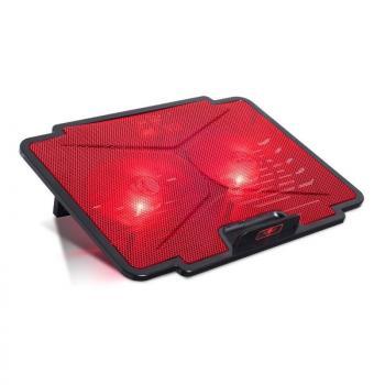 Soporte Refrigerante Spirit of Gamer Airblade 100 Rojo para Portátiles hasta 15.6'/ Iluminación LED - Imagen 1