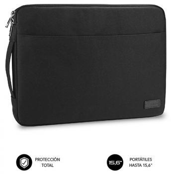 Funda Subblim Urban Laptop Sleeve para Portátiles hasta 15.6'/ Negra - Imagen 1