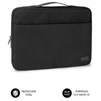 Maletín Subblim Elegant Laptop Sleeve para Portátiles hasta 14'/ Negro - Imagen 1