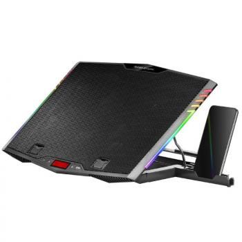 Soporte Refrigerante Mars Gaming MNBC5 para Portátiles hasta 17.3'/ Iluminación LED - Imagen 1