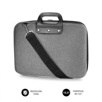 Maletín Subblim EVA Laptop Bag PL para Portátiles hasta 13.3'/ Cinta para Trolley/ Gris - Imagen 1