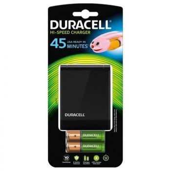 Cargador de Pilas Duracell CEF27EU-EU/ capacidad 2 pilas/ AA y AAA - Imagen 1