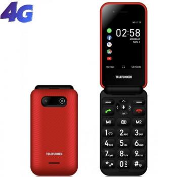 Teléfono Móvil Telefunken S740 para Personas Mayores/ Rojo - Imagen 1