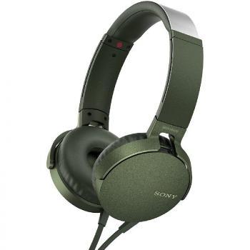 Auriculares Sony MDR-XB550AP Extra Bass/ con Micrófono/ Jack 3.5/ Verdes - Imagen 1