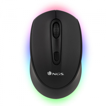 Ratón Inalámbrico por Bluetooth NGS Smog-RB/ Hasta 1600 DPI/ Negro - Imagen 1