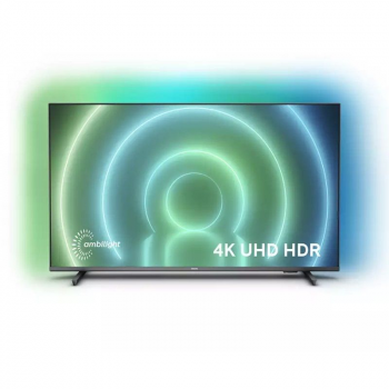 Televisor Philips 50PUS7906 50'/ Ultra HD 4K/ Ambilight/ Smart TV/ WiFi/ Gris - Imagen 1