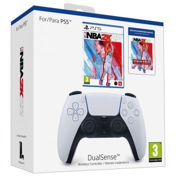 Gamepad Inalámbrico Sony DualSense para PS5 + Juego NBA 2K22 Edición Estándar + Lote Jumpstart NBA 2K22/ Blanco - Imagen 1