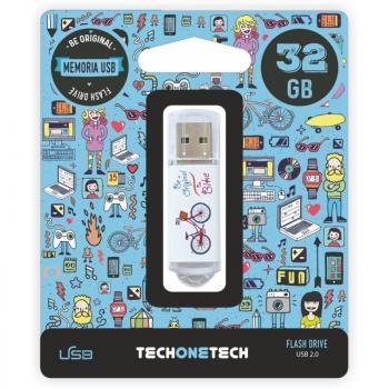 Pendrive 32GB Tech One Tech Be Bike USB 2.0 - Imagen 1