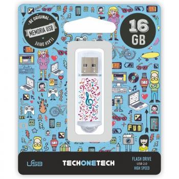 Pendrive 16GB Tech One Tech Music Dream USB 2.0 - Imagen 1