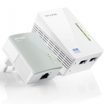 PLC/POWERLINE TP-LINK TL-WPA4220KIT KIT EXTENSOR WIFI AV600 A 300MBPS 2P ETHERNET 10/100  BLANCO - Imagen 1